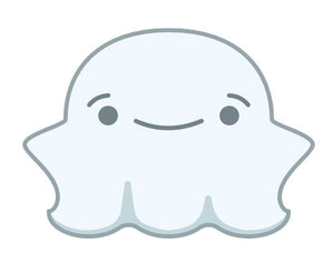 Cute Fat Baby Ghost Emoji - Smiley Vinyl Decal Sticker