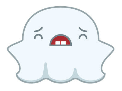 Cute Fat Baby Ghost Emoji - Upset Vinyl Decal Sticker