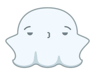 Cute Fat Baby Ghost Emoji - Whatever Vinyl Decal Sticker