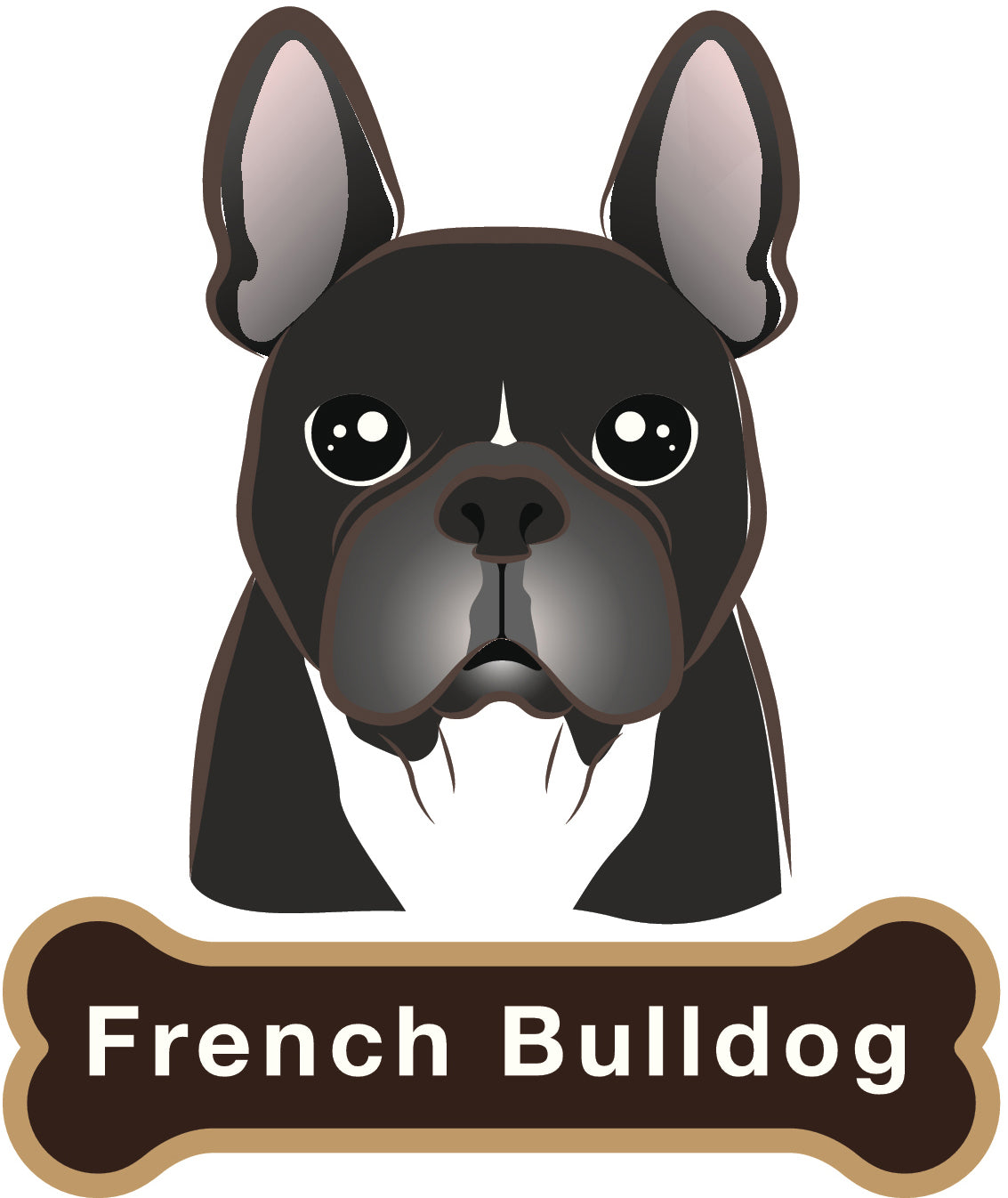 Cute Frenchie French Bulldog Vinyl Decal Sticker