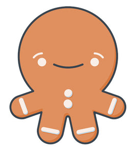 Cute Gingerbread Man Baby Emoji - Smiley Vinyl Decal Sticker