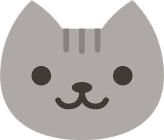 Cute Gray Kitty Cat Face Emoji - Smiley Vinyl Decal Sticker