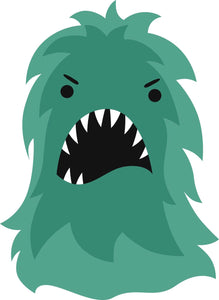 Cute Hairy Green Monster #2 Vinyl Decal Sticker