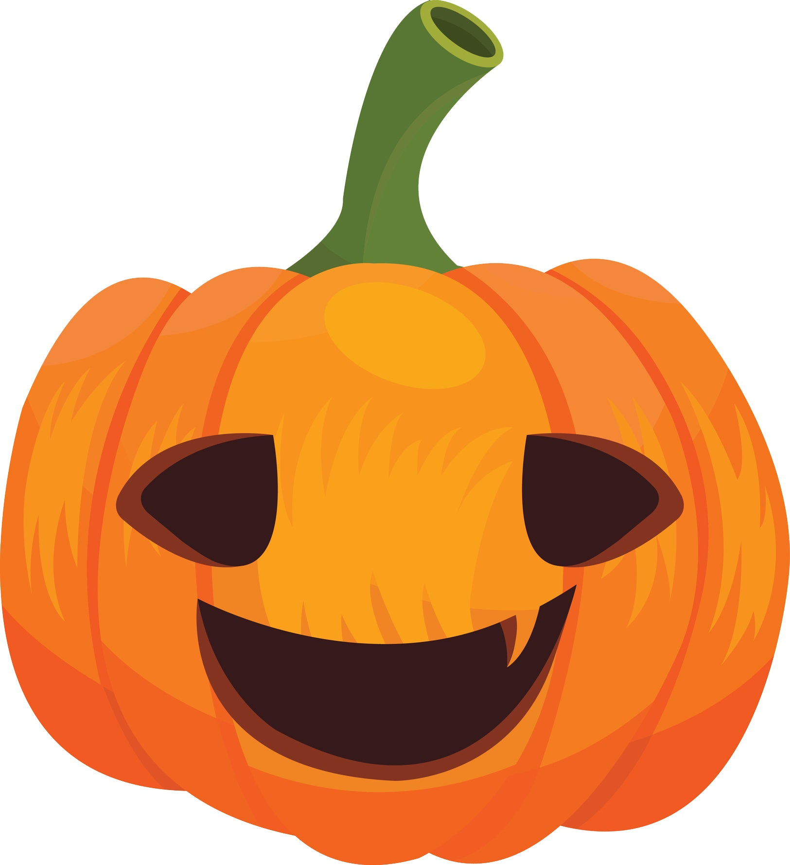 Cute Halloween Cartoon Pen Art - Pumpkin Jack O Lantern Vinyl Decal Sticker