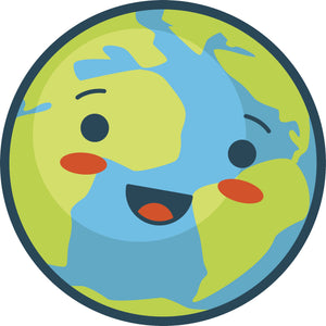 Cute Happy Earth Vinyl Decal Sticker