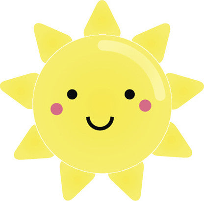 Cute Happy Kawaii Weather Climate Cartoon Emoji - Sun Vinyl Decal Sticker