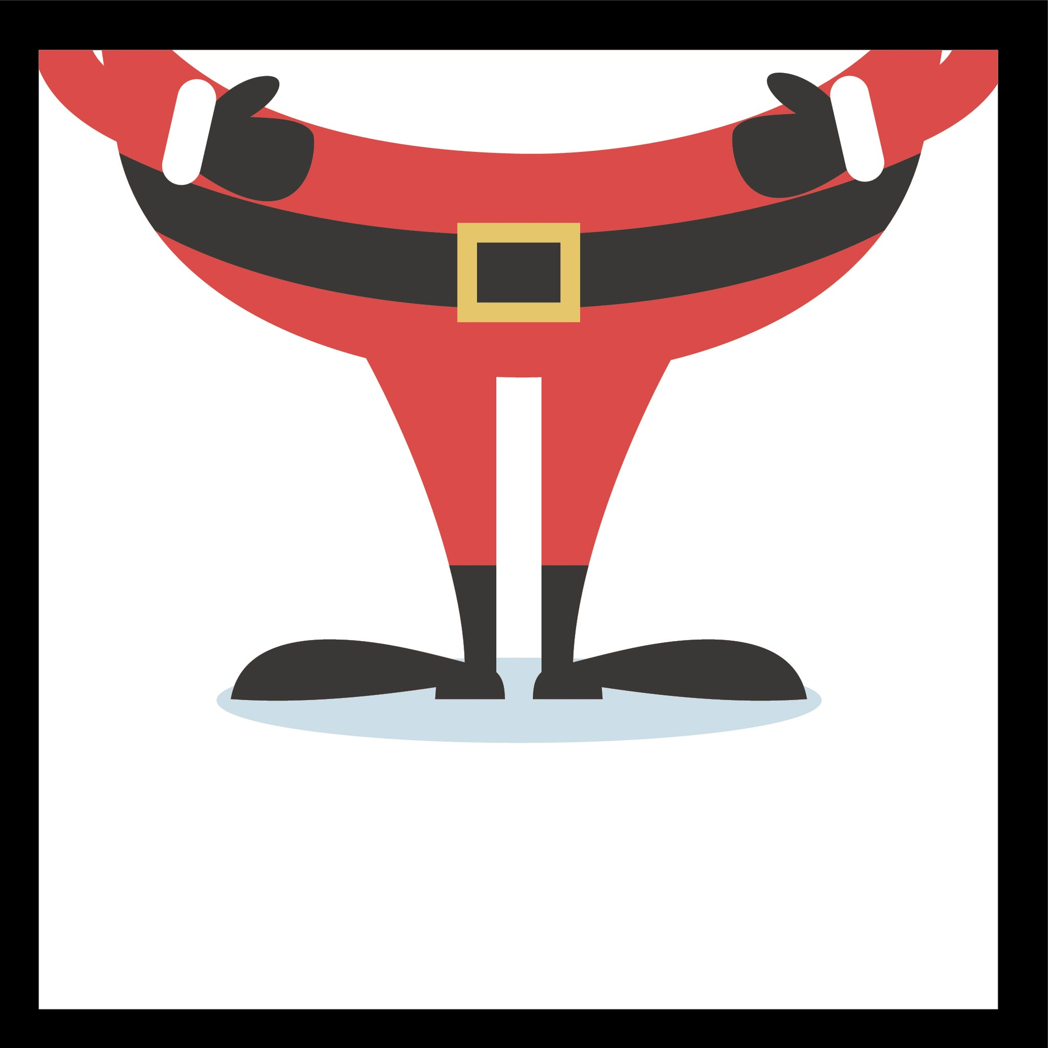 Cute Happy Santa Tile Square (2) Border Around Image As Shown Vinyl Decal Sticker