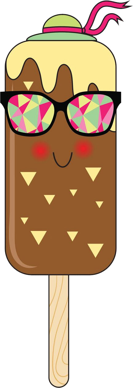 Cute Hipster Popsicle Ice Cream (1) Vinyl Decal Sticker