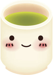 Cute Japanese Green Tea Cup Emoji Vinyl Decal Sticker