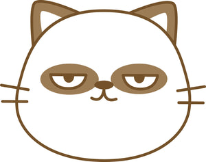 Cute Kawaii Baby Animal Face - Kitty Cat Panda Vinyl Decal Sticker
