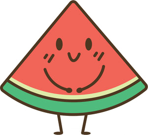 Cute Kawaii Summer Cartoon Emoji Pen Art - Watermelon #1 Vinyl Decal Sticker