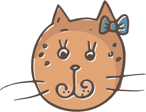 Cute Kitty Cat Face Cartoon Sketch Emoji #24 Vinyl Decal Sticker