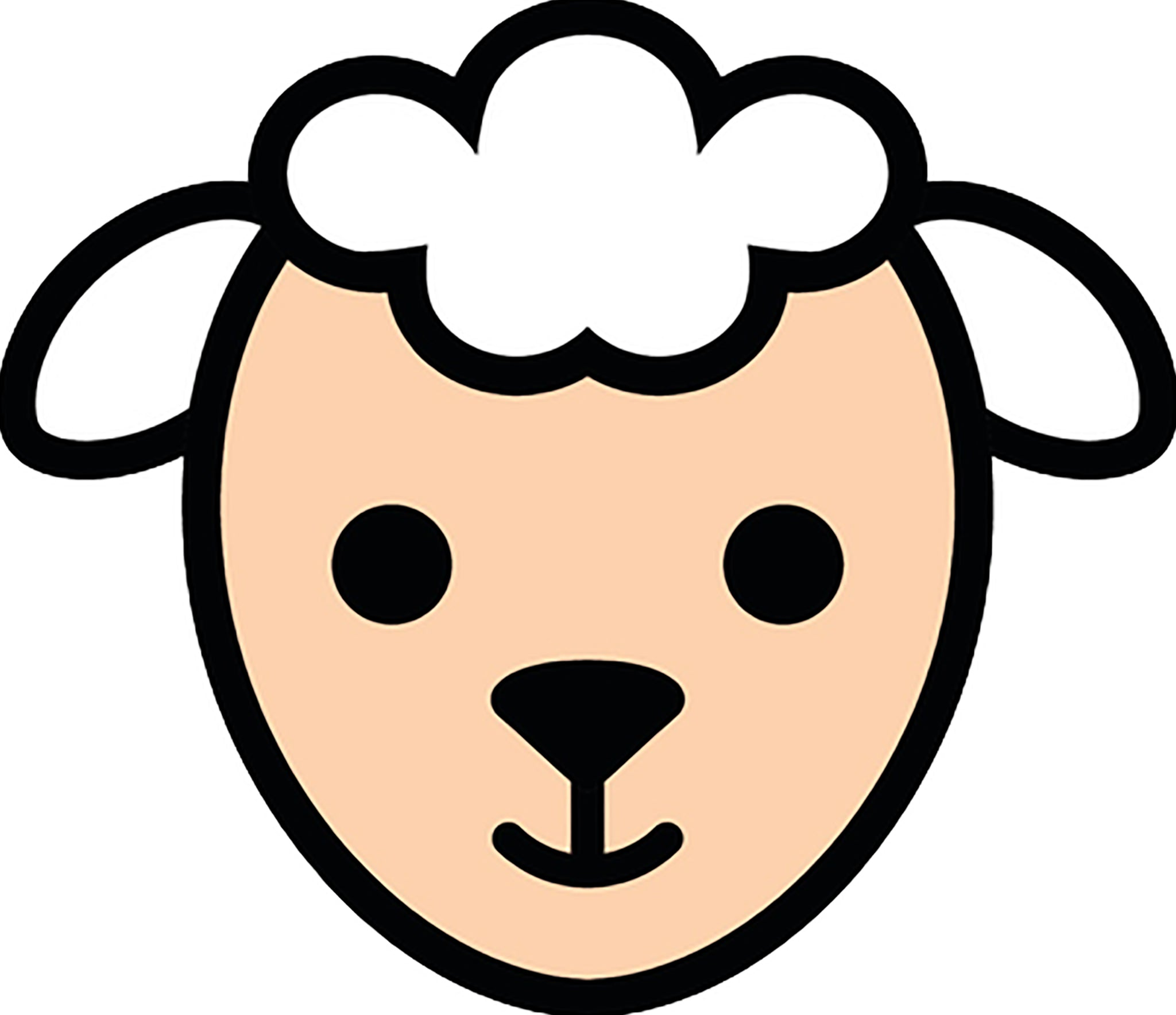 Cute Little Lamb and Lamb Chop Meat Steak Cartoon Emoji #1 Vinyl Decal Sticker