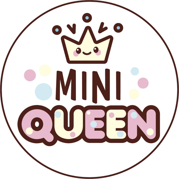 Cute Pink Girly Kawaii Candy Letters Icon Mini Queen Vinyl Decal