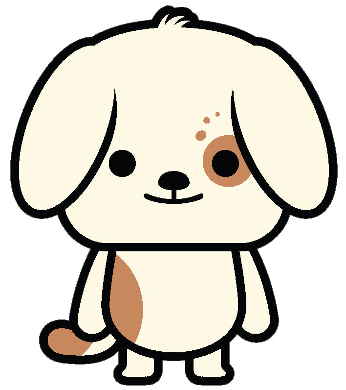 Cute Playful Spotted Puppy Dog Cartoon Emoji #1 Vinyl Decal Sticker