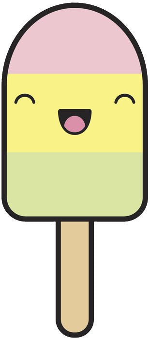 Cute Popsicle Emoji - Pastel Vinyl Decal Sticker