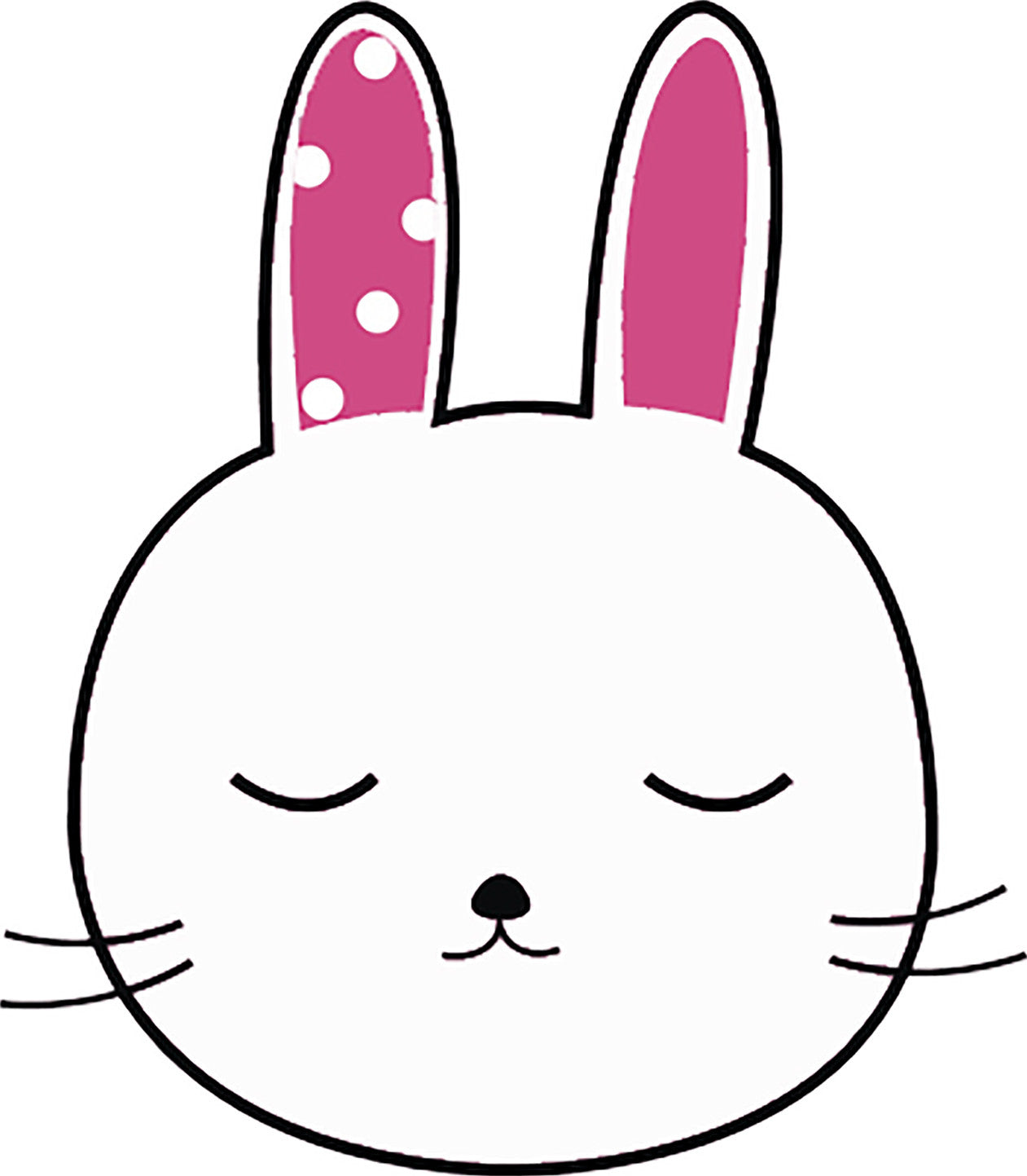 Cute Pretty Kawaii Bunny Rabbit Drawing Cartoon #6 Vinyl Decal Sticker