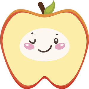 Cute Silly Kawaii Tooth Teeth Cartoon Emoji in Costume - Apple Vinyl Decal Sticker
