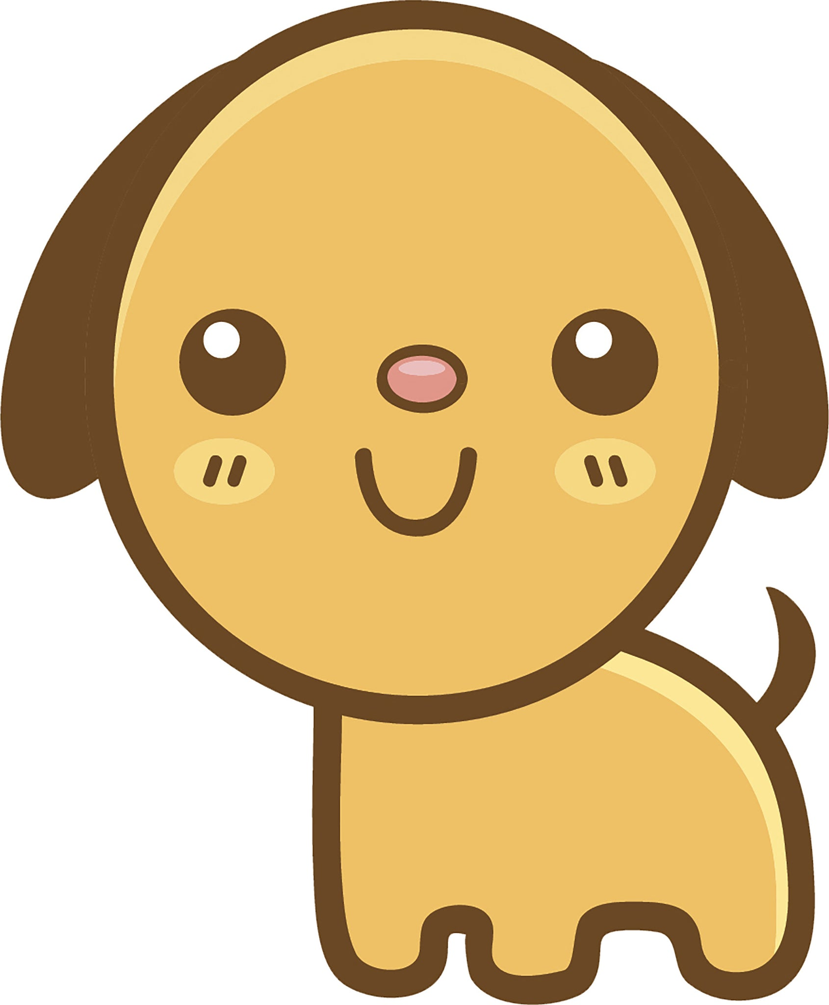 Cute Simple Kawaii Animal Cartoon Emoji - Puppy Dog Vinyl Decal Sticker