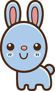 Cute Simple Kawaii Animal Cartoon Icon - Bunny Rabbit Vinyl Decal Sticker