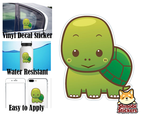 Cute Simple Kawaii Zoo Wild Animal Cartoon Icon Water Resistant Car Vinyl Decal Sticker
