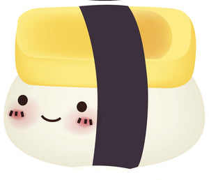 Cute Sushi Tamago Emoji Vinyl Decal Sticker