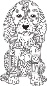 Cute Tribal Pattern Puppy Dog Vinyl Decal Sticker