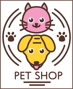 Cute Veterinary Clinic Pet Shop Cartoon Logo Icon #14 Vinyl Decal Sticker