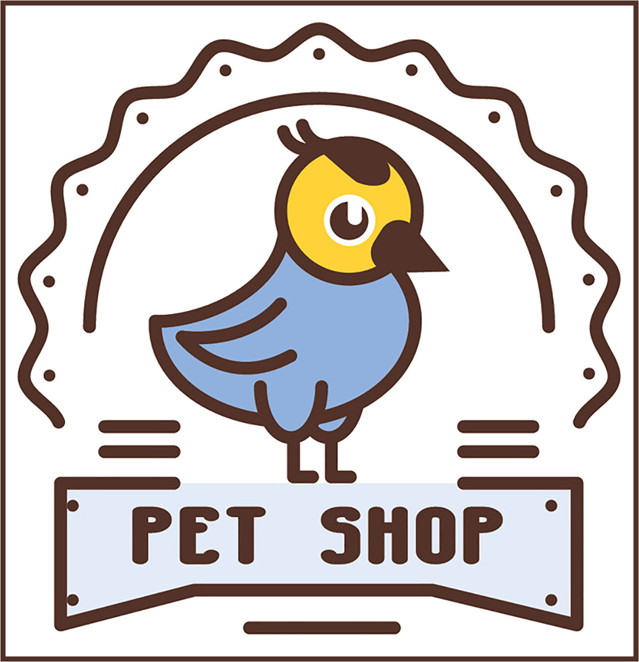 Cute Veterinary Clinic Pet Shop Cartoon Logo Icon #16 Vinyl Decal Sticker
