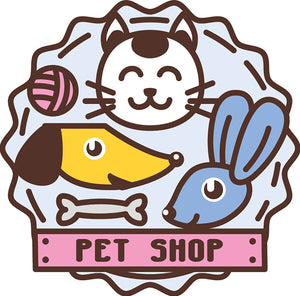 Cute Veterinary Clinic Pet Shop Cartoon Logo Icon #1 Vinyl Decal Sticker
