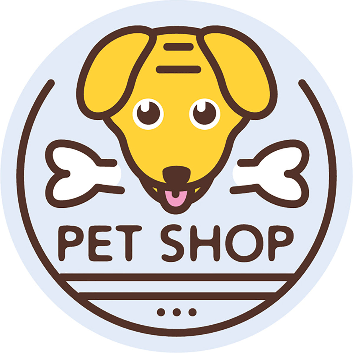 Cute Veterinary Clinic Pet Shop Cartoon Logo Icon #4 Vinyl Decal Sticker