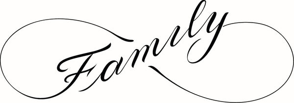 Dainty Infinity Symbol Calligraphy - Family Vinyl Decal Sticker
