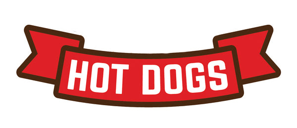Delicious American Fast Fair Food - Hot Dogs Banner Vinyl Decal Sticker