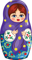 Detailed Holiday Russian Matryoshka Doll Drawing (2) Vinyl Decal Sticker