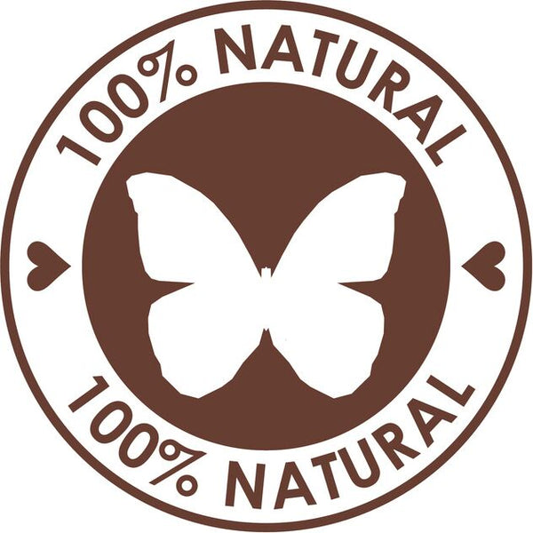Eco-Friendly 100% Natural Green Emblem Logo Icon - Simple #4 Vinyl Decal Sticker