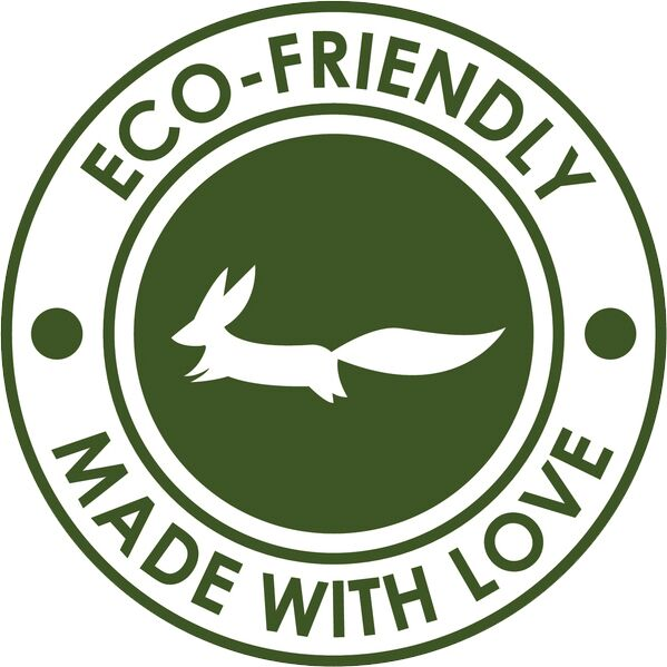 Eco-Friendly Made with Love Green Emblem Logo Icon - Simple #2 Vinyl Decal Sticker