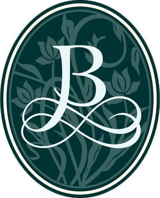 Elegant Green Vintage Pendant Initial Calligraphy Icon B Vinyl Decal Sticker