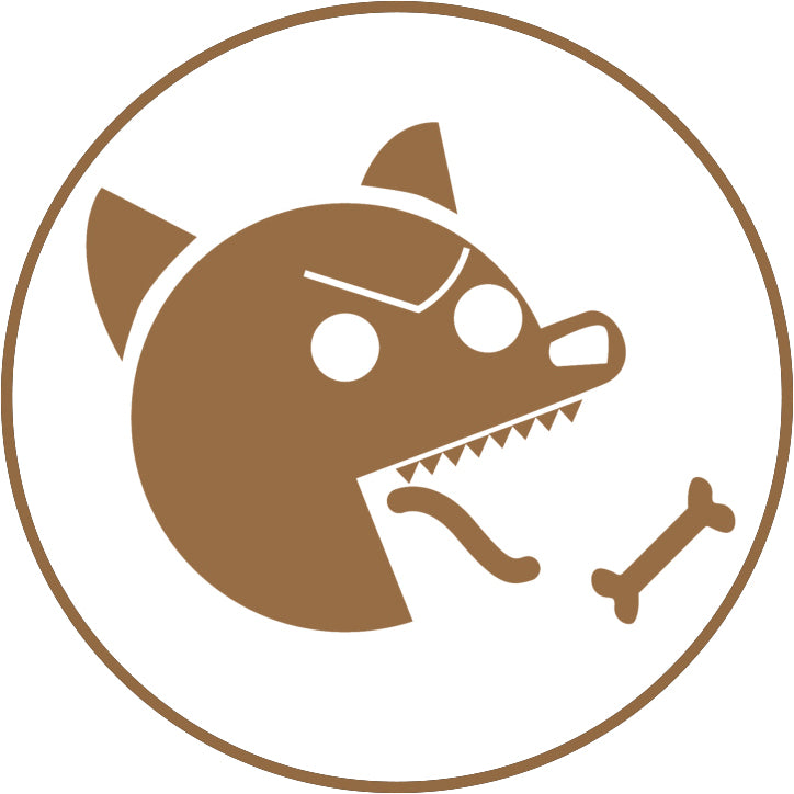 Evil Hungry Animal Cartoon Icon - Dog Border Around Image As Shown Vinyl Sticker