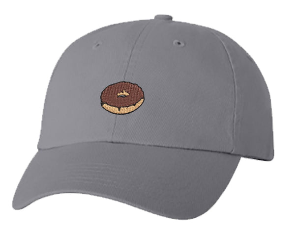 Unisex Adult Washed Dad Hat Pretty Delicious Yummy Cartoon Donut Doughnut Cartoon #3 - Chocolate Embroidery Sketch Design