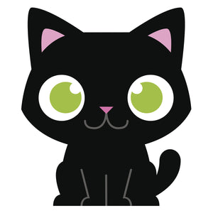 Green Eye Black Baby Kitty Cat Vinyl Decal Sticker