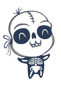 Happy Baby in Hallowen Costume - Skeleton Vinyl Decal Sticker