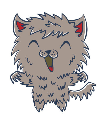 Happy Baby in Hallowen Costume - Werewolf Vinyl Decal Sticker