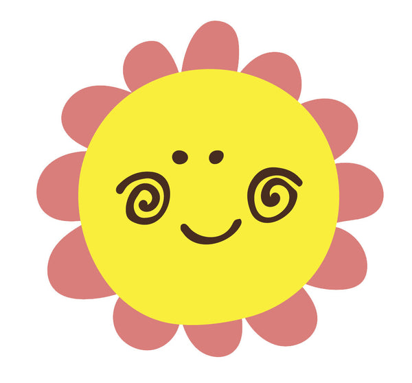 Happy Flower Emoji Pink Daisy Vinyl Decal Sticker Shinobi Stickers