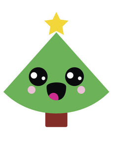 Christmas Tree Emoji.Happy Holiday Christmas Tree Emoji 5 Vinyl Decal Sticker