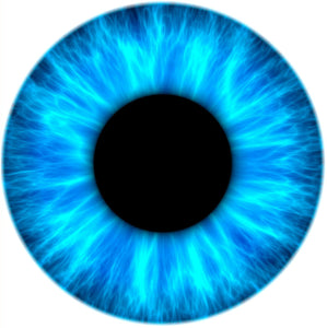 ICE EYE IRIS DILATED PUPIL LIGHT DARK BLUE BLACK WHITE Vinyl Decal Sticker