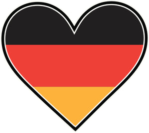 I Love Germany Flag in Heart Vinyl Decal Sticker