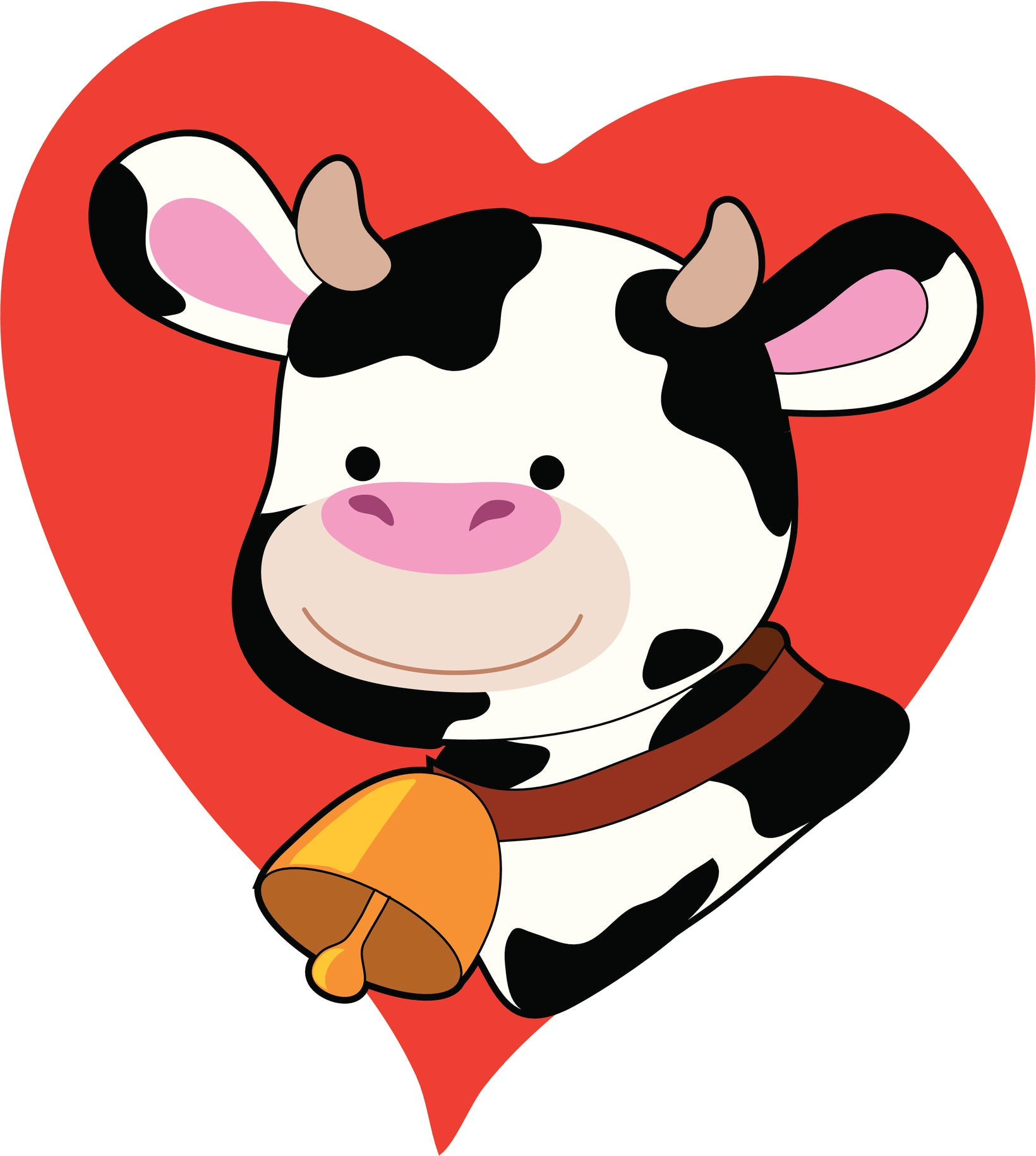 I Love Milk Cows Heart Vinyl Decal Sticker