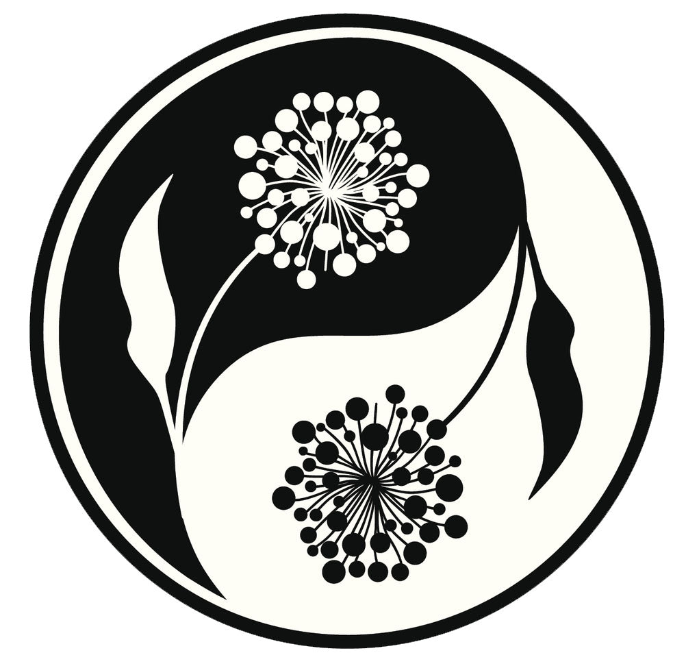 Icon Ying Yang Flowers #3 Vinyl Decal Sticker