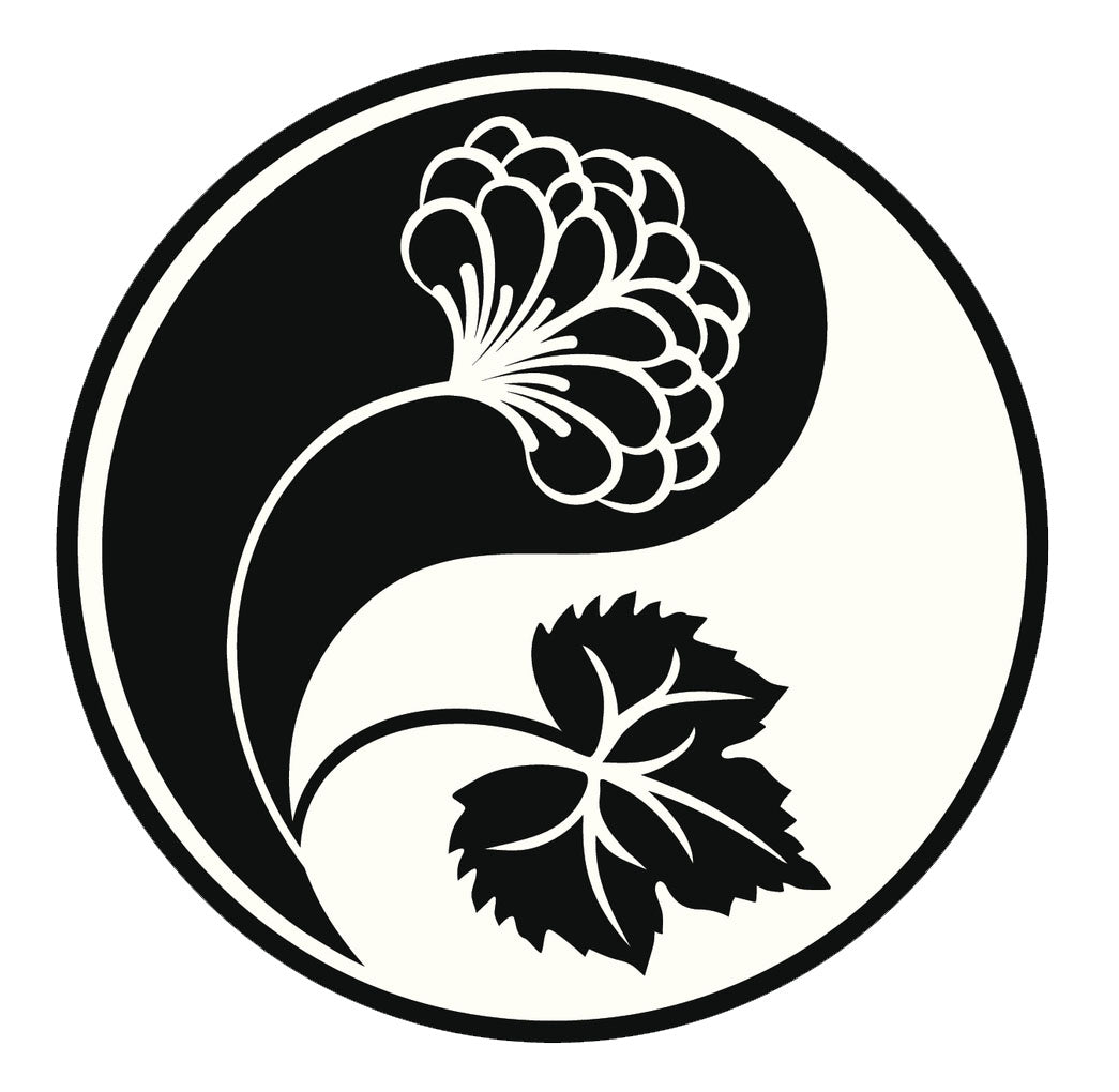 Icon Ying Yang Flowers #5 Vinyl Decal Sticker