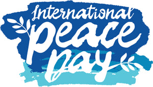 International Peace Day Watercolor Calligraphy Vinyl Decal Sticker